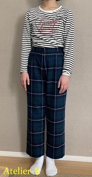 子供用の冬用パンツを作りました(サイズ160)_c0319009_12033022.jpg