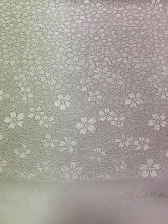 商品紹介・縞の御召+しょうざん生紬一珍染桜の帯。_f0181251_18434001.jpg