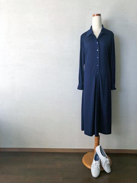 コトニエのシルクジャージーシャツドレス_c0134902_18440623.jpg