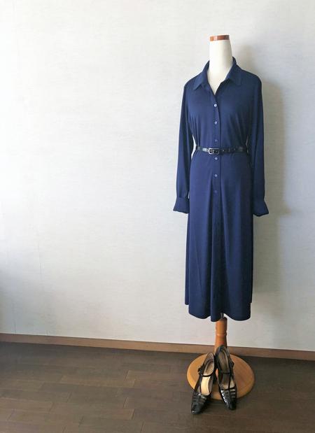 コトニエのシルクジャージーシャツドレス_c0134902_18441304.jpg