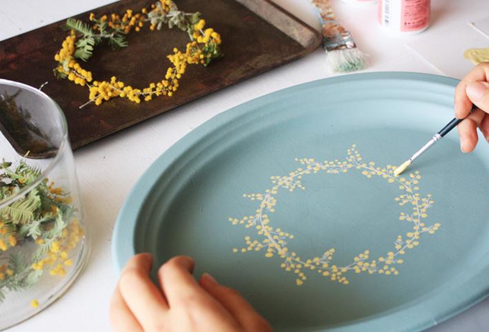 セリアの紙皿でつくる「ボタニカルプレート」_d0351435_09085264.jpg