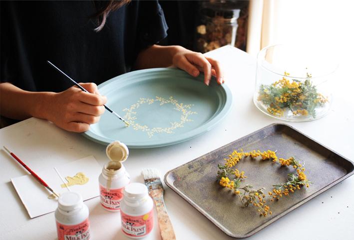 セリアの紙皿でつくる「ボタニカルプレート」_d0351435_09085286.jpg