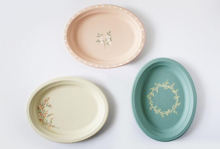 セリアの紙皿でつくる「ボタニカルプレート」_d0351435_09402025.jpg