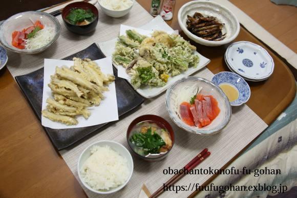 昨夜のおうち飲みは、天ぷら&今日の御出勤御膳&金管の甘露煮_c0326245_11451794.jpg