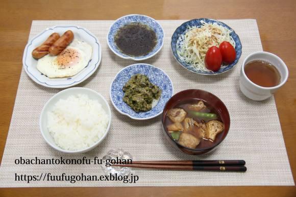 昨夜のおうち飲みは、天ぷら&今日の御出勤御膳&金管の甘露煮_c0326245_11462454.jpg