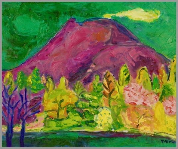 きらり市民ギャラリー 出品予定 浅間山 F8 1998 _a0086270_22483615.jpg