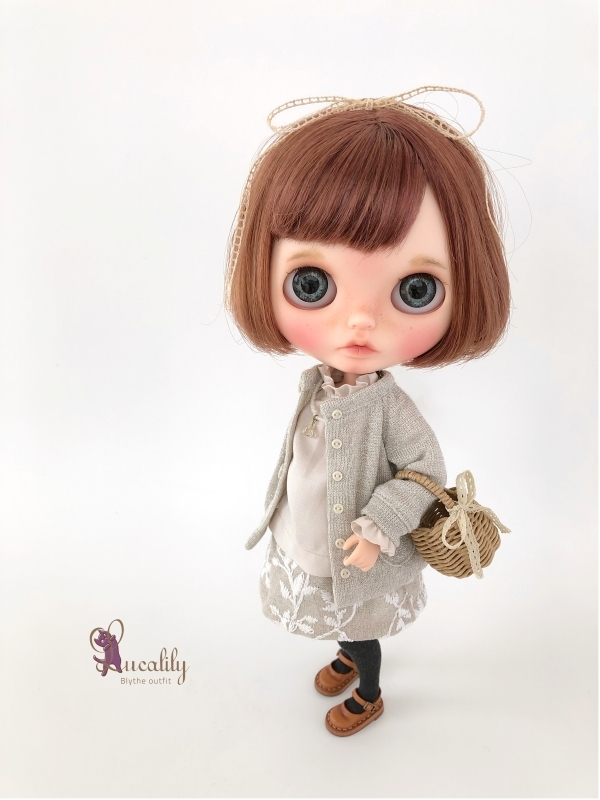 * lucalily * dolls clothes * Glittery cardigan set *_d0217189_11134833.jpg