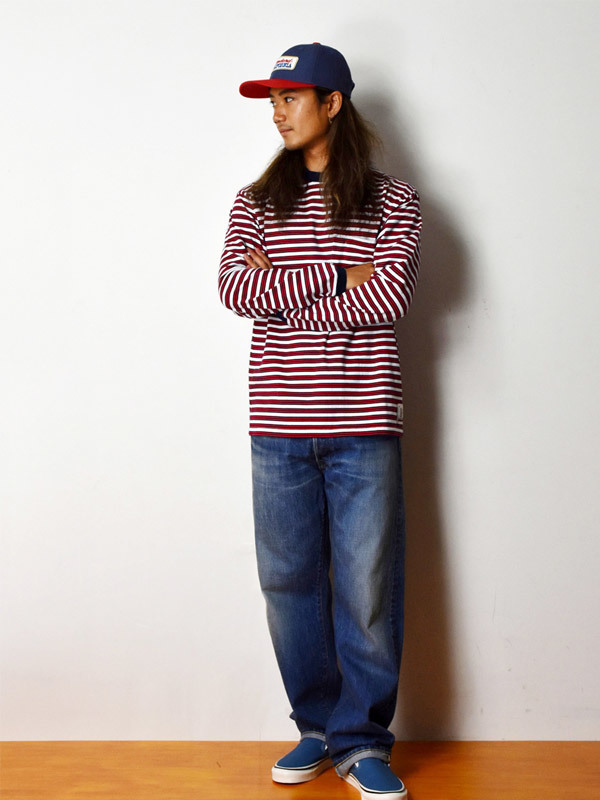 【DELIVERY】 STANDARD CALIFORNIA - Border Long Sleeve T_a0076701_18535576.jpg