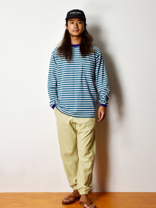 【DELIVERY】 STANDARD CALIFORNIA - Border Long Sleeve T_a0076701_18540922.jpg