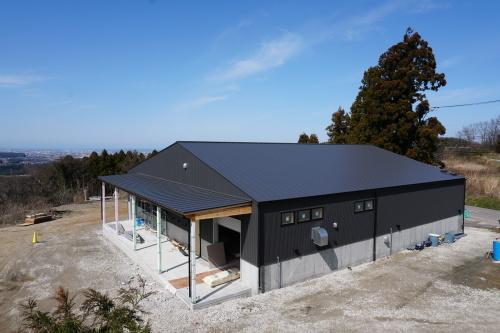 進捗状況「Vin de la bocchi farm & wineryワイナリー建設工事(建築工事)」_d0095305_16280836.jpg