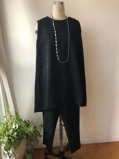 着物着物リメイク・羽織とお着物からトップスとパンツのセットアップ_d0127925_19021940.jpg