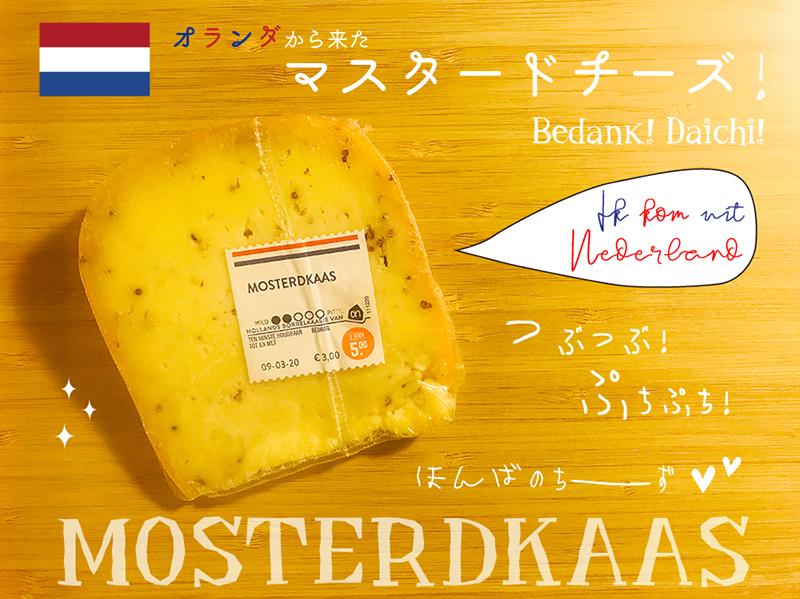 """オランダのおみやげ*\""""MOSTERDKAAS\"""" つぶつぶのプチプチが楽しい「マスタードチーズ」!_d0018646_02204143.jpg"""