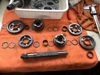 NSR MC21 焼き付き修理 ⓶_e0114857_10345069.jpg