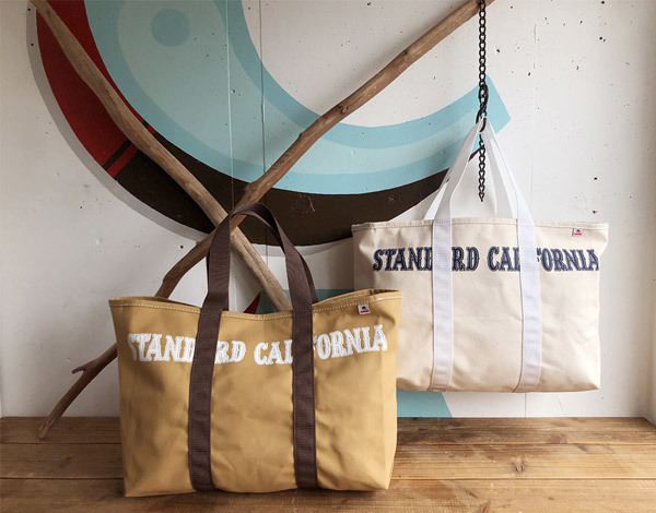 【DELIVERY】 STANDARD CALIFORNIA - Made in USA Swinging Canvas Tote Bag_a0076701_15234378.jpg