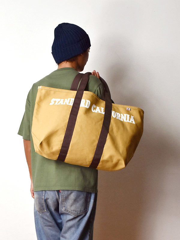 【DELIVERY】 STANDARD CALIFORNIA - Made in USA Swinging Canvas Tote Bag_a0076701_15263696.jpg