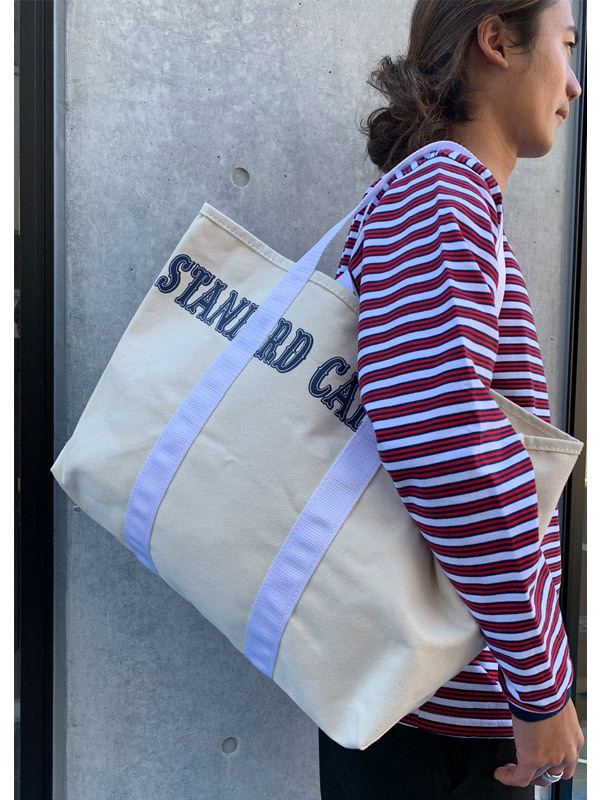【DELIVERY】 STANDARD CALIFORNIA - Made in USA Swinging Canvas Tote Bag_a0076701_15264678.jpg