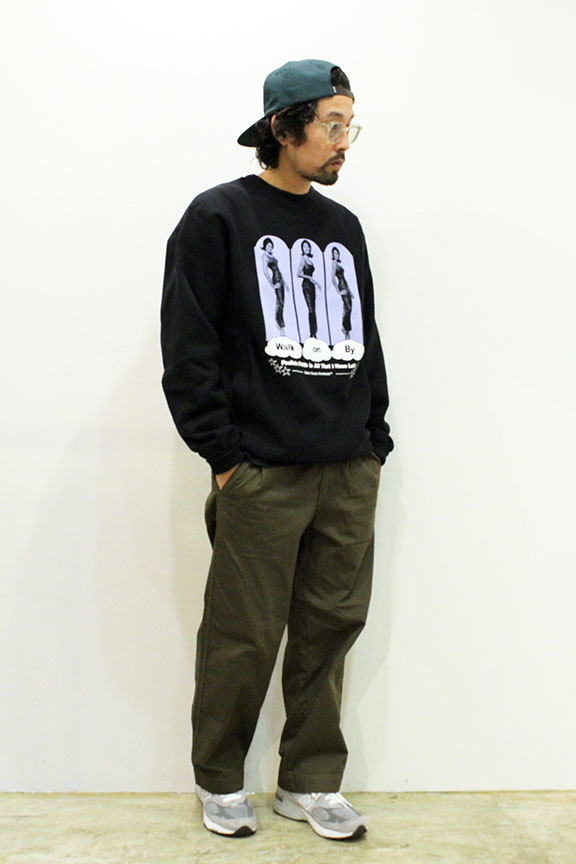 "BUTTER GOODS (バターグッズ) "" Walk On By Crewneck \""_b0122806_12555976.jpg"