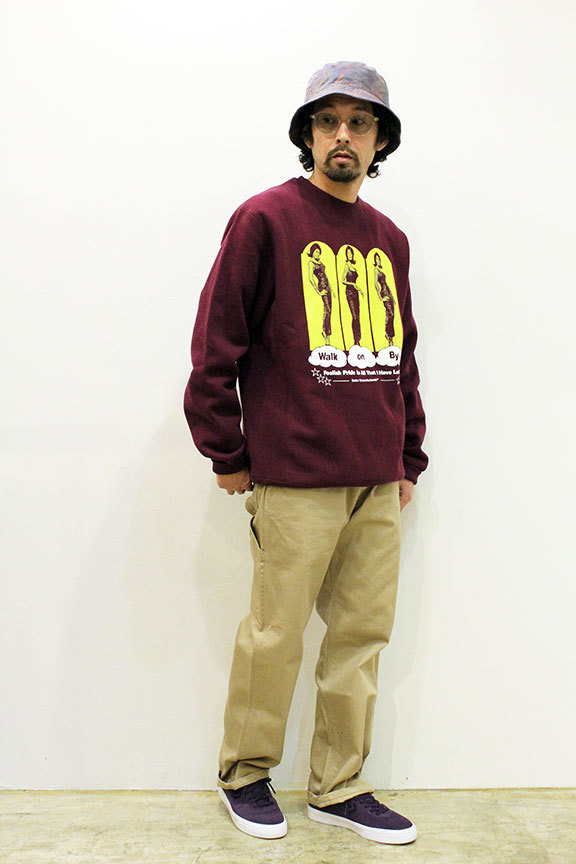 "BUTTER GOODS (バターグッズ) "" Walk On By Crewneck \""_b0122806_12560183.jpg"
