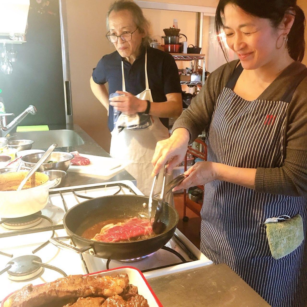 レストラン流、美味しいステーキの焼き方を習いました【サン・ファソン 本多シェフに習うフレンチ】_b0345136_20283979.jpg