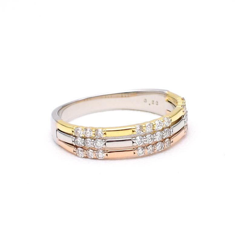 スリーカラー ダイヤモンドリング_c0346851_17334206.jpg