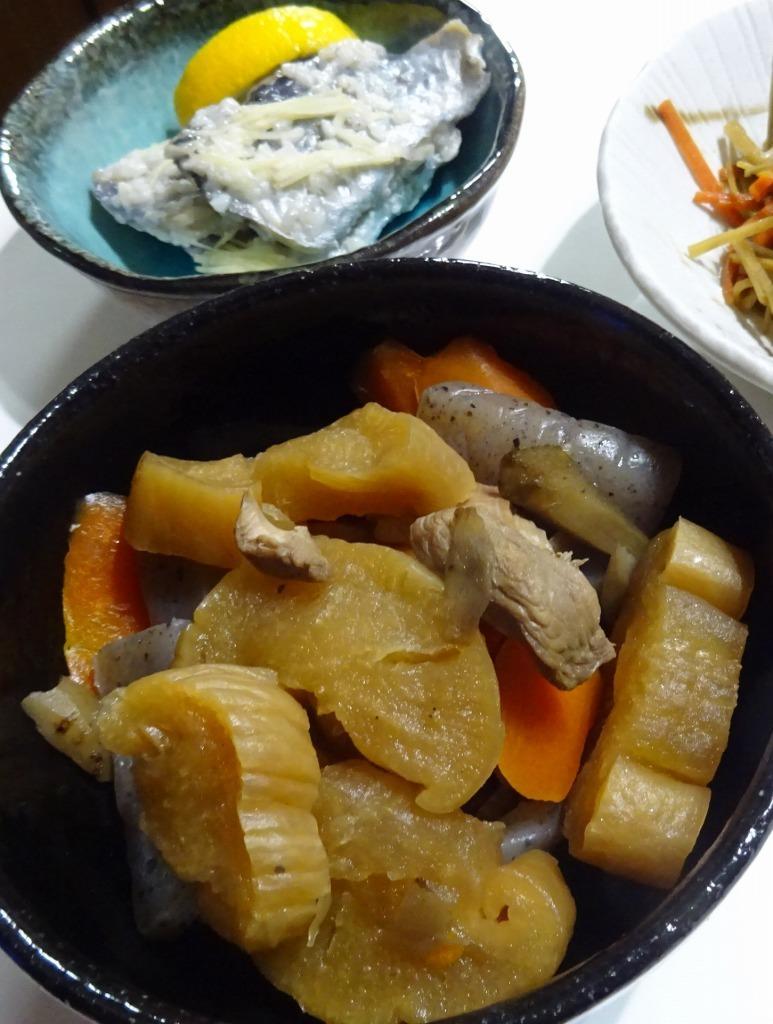 アメリカカブレかもろ日本人か分からぬ食卓 99 岩手の伯母特製沢庵、鰊の切込、凍み大根_d0061678_16431081.jpg