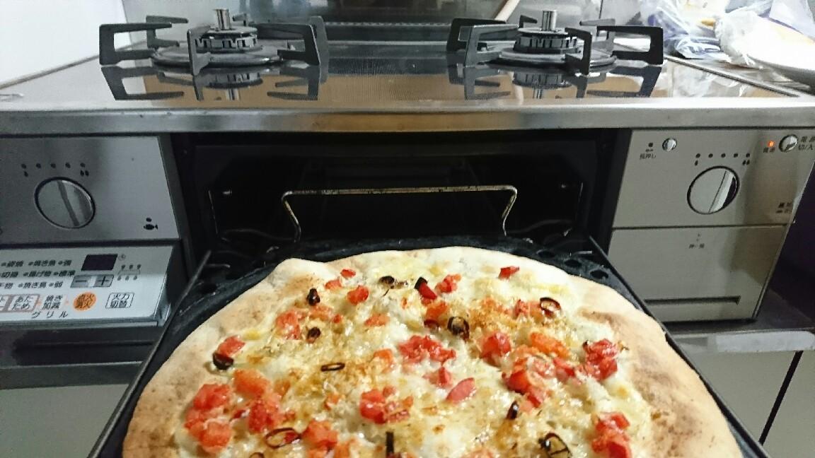 ガスコンロでシラスとボッタルガの簡単ピザ作り_b0221506_18322912.jpg