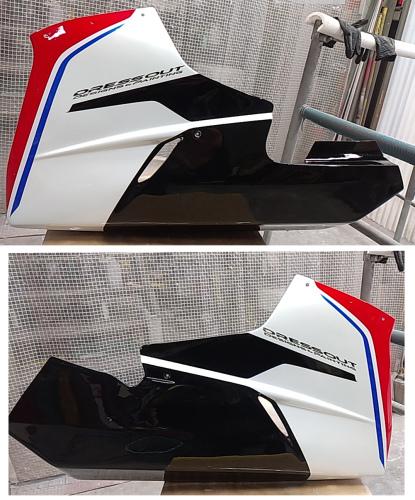 MVアグスタのカウル類の塗装終了。MV Agusta F3 RCだよ。その2。_d0130115_18283885.jpg