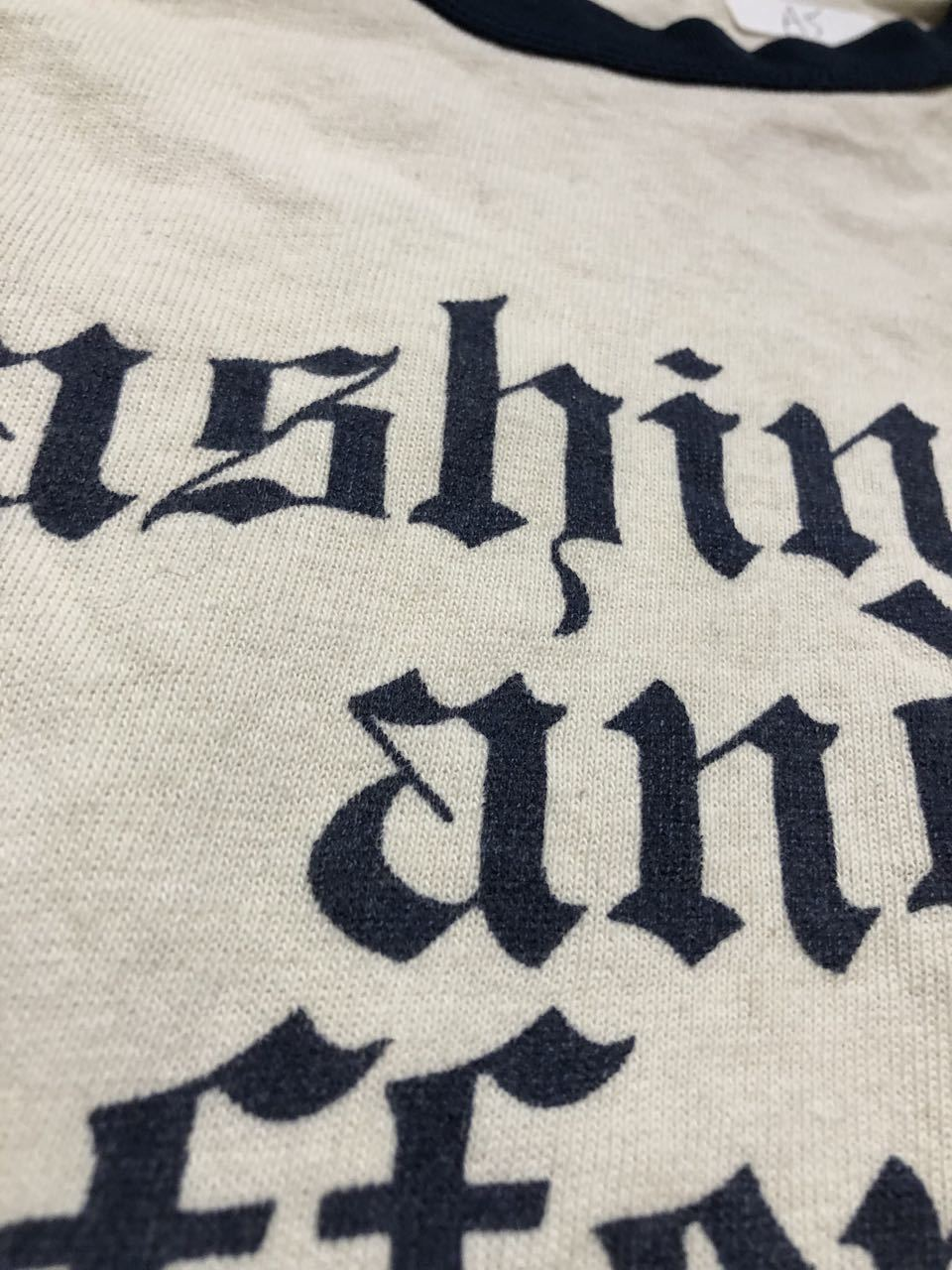 アメリカ仕入れ情報#28 3/14(土)入荷!70s all cotton 染み込みプリント BASEBALL シャツ!_c0144020_14032476.jpg