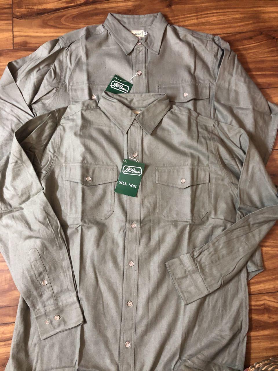 アメリカ仕入れ情報#29 3/14入荷!デッドストック 80s L.L Bean  all silk  シャツ!_c0144020_14082767.jpg