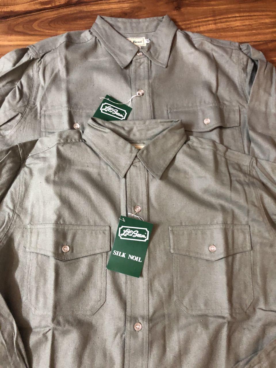 アメリカ仕入れ情報#29 3/14入荷!デッドストック 80s L.L Bean  all silk  シャツ!_c0144020_14082921.jpg