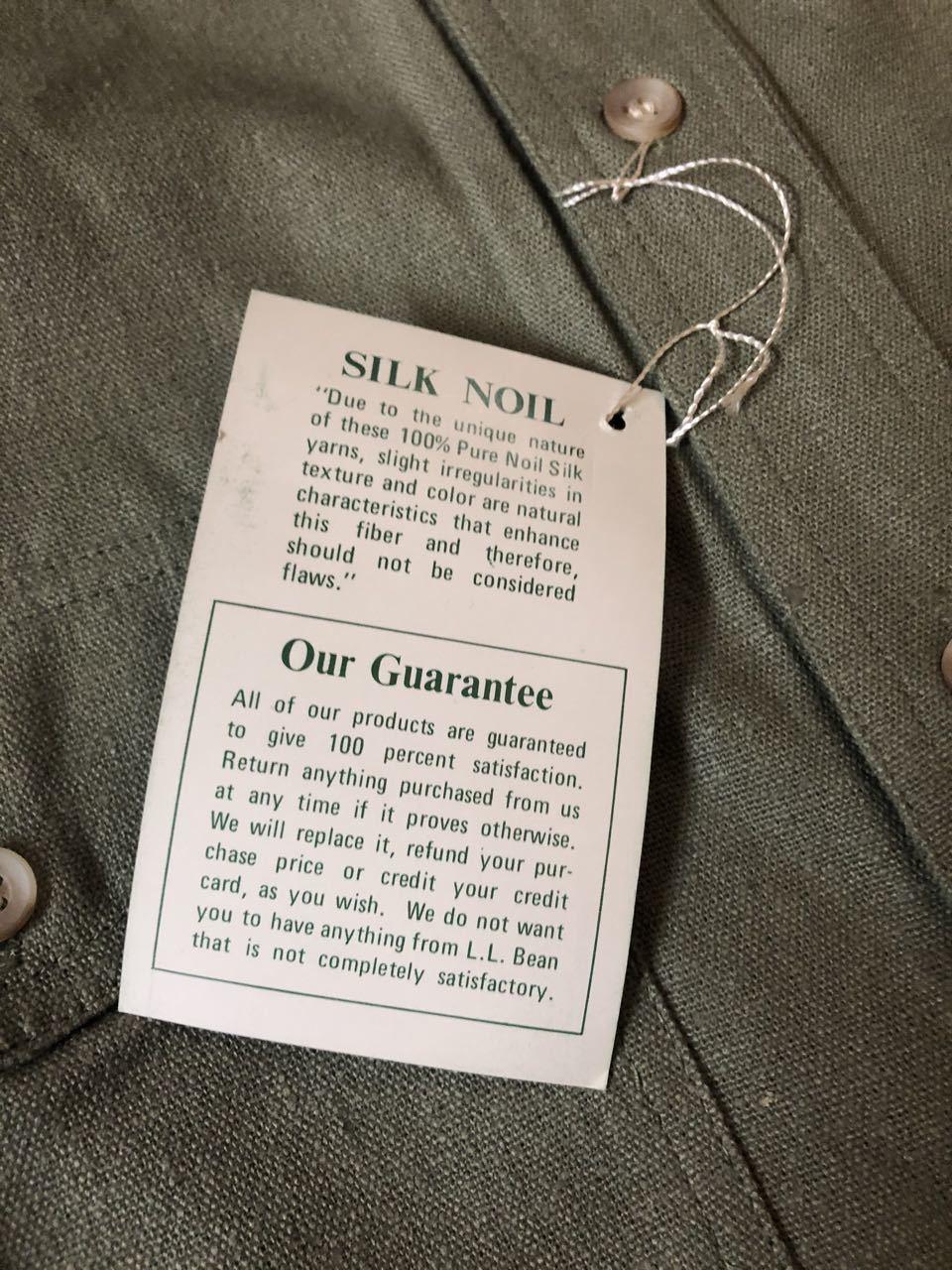 アメリカ仕入れ情報#29 3/14入荷!デッドストック 80s L.L Bean  all silk  シャツ!_c0144020_14083337.jpg