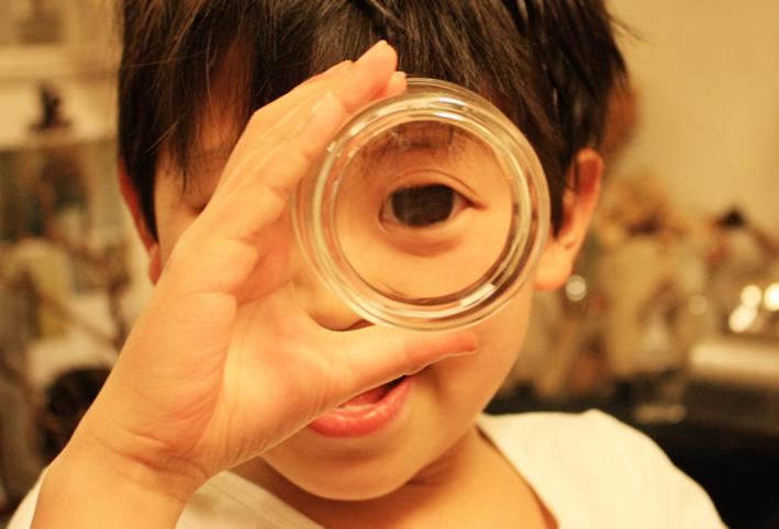 無印良品のスタックグラスで「ゴリラごっこ」_d0351435_10022004.jpg