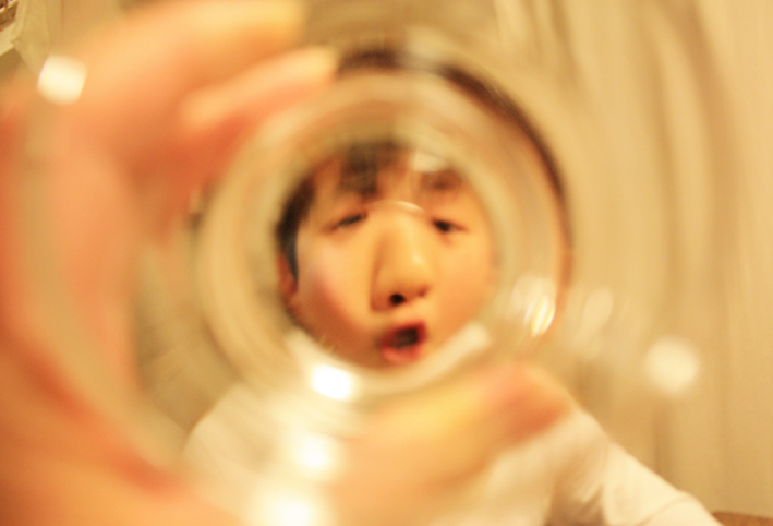 無印良品のスタックグラスで「ゴリラごっこ」_d0351435_10092204.jpg