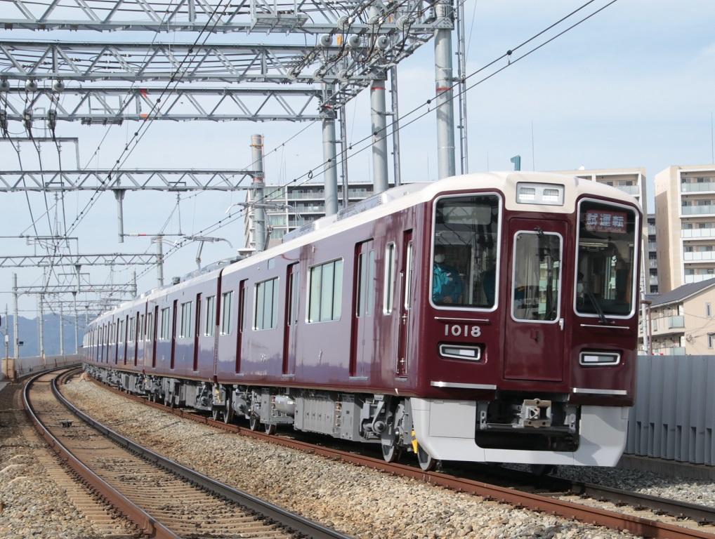 阪急1000系 1018F 宝塚線配置 新造車両試運転_d0202264_20533169.jpg