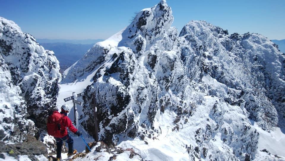 冬季赤岳登山 登山同行_e0231387_19464310.jpg