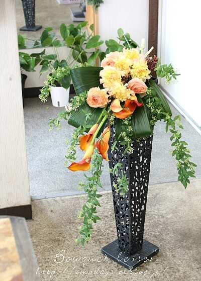 季節を楽しむ:花束レッスン2月_a0085317_22410387.jpg