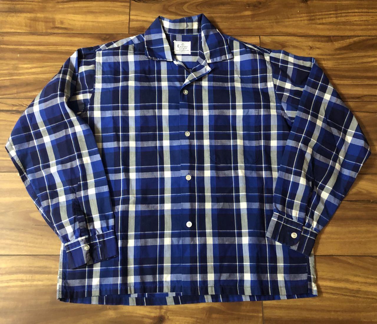アメリカ仕入れ情報#33 3/14入荷! 50s all cotton Lanier オープンカラー ボックスシャツ!_c0144020_13121938.jpg