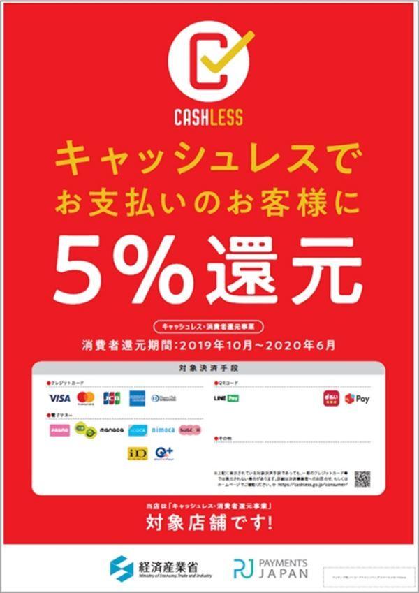 キャッシュレスでお支払いのお客様に5%還元!_c0318829_15415005.jpg