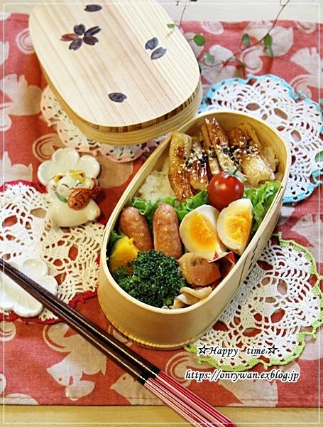 竹輪の照り焼き弁当と虹~♪_f0348032_16452010.jpg