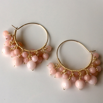 桜の季節に・・・ピンクオパールのピアス_b0278339_12292331.jpg