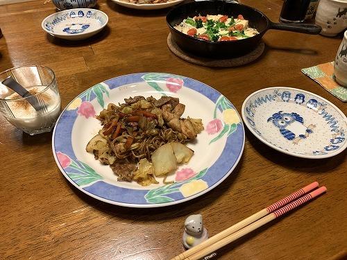 鯖缶(水煮)を使う夕食_c0327752_10121997.jpg