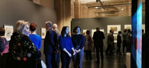 ラトビア共和国美術館で開催日本展の写真が届く_b0115553_00124730.jpg
