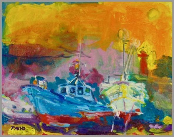 きらり市民ギャラリー 出品予定 小さな港 F6 2007_a0086270_21425125.jpg