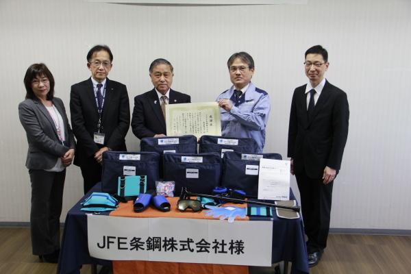 JFE条鋼㈱様より、高齢者疑似体験セットの寄付受領♪_d0081884_19013955.jpg
