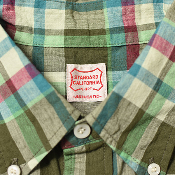 【DELIVERY】 STANDARD CALIFORNIA - Madras Check Button-Down Shirt_a0076701_17373684.jpg