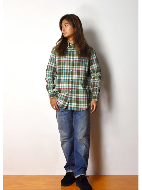 【DELIVERY】 STANDARD CALIFORNIA - Madras Check Button-Down Shirt_a0076701_17380047.jpg
