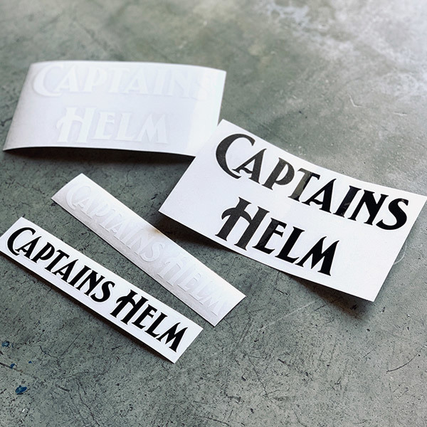 【DELIVERY】 CAPTAINS HELM - #CUTTING LOGO STICKER SET_a0076701_17503362.jpg
