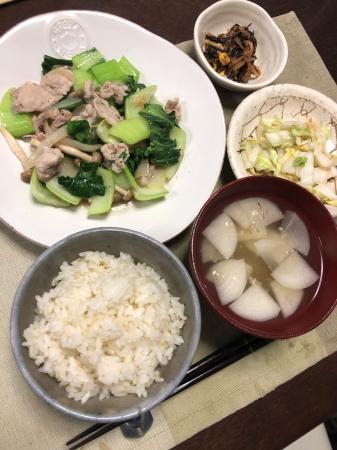 豚肉とチンゲン菜の炒め物_d0235108_21232492.jpg