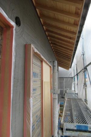 「駒場の家」ラスモルタル下塗り_b0179213_09135135.jpg