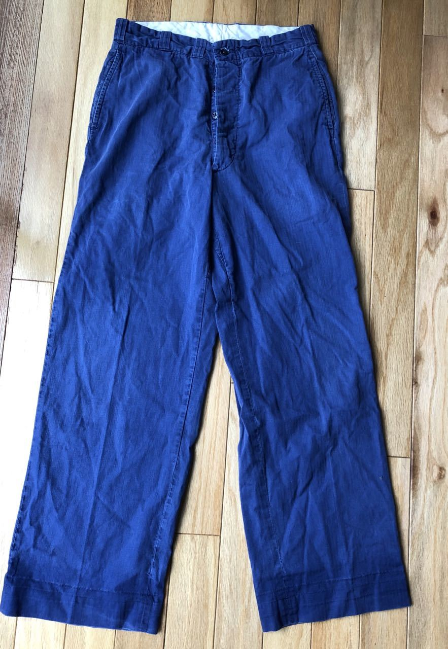 アメリカ仕入れ情報#34 3/14入荷!50s all cotton  HBT NAVY WORK PANTS!_c0144020_09035733.jpg